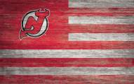 """New Jersey Devils 11"""" x 19"""" Distressed Flag Sign"""
