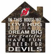 """New Jersey Devils 12"""" House Sign"""