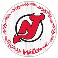 """New Jersey Devils 12"""" Welcome Circle Sign"""