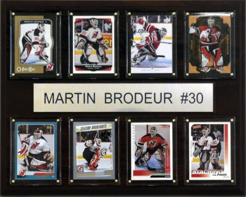 "New Jersey Devils 12"" x 15"" Martin Brodeur 8 Card Plaque"