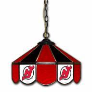 "New Jersey Devils 14"" Glass Pub Lamp"