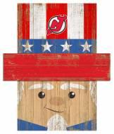 "New Jersey Devils 19"" x 16"" Patriotic Head"