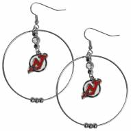 """New Jersey Devils 2"""" Hoop Earrings"""