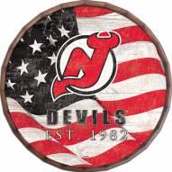 """New Jersey Devils 24"""" Flag Barrel Top"""