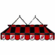 """New Jersey Devils 40"""" Stained Glass Billiard Lamp"""