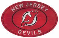 "New Jersey Devils 46"" Heritage Logo Oval Sign"