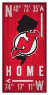 "New Jersey Devils 6"" x 12"" Coordinates Sign"