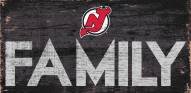 """New Jersey Devils 6"""" x 12"""" Family Sign"""