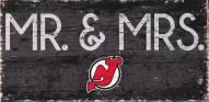 "New Jersey Devils 6"" x 12"" Mr. & Mrs. Sign"