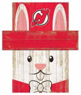 """New Jersey Devils 6"""" x 5"""" Easter Bunny Head"""