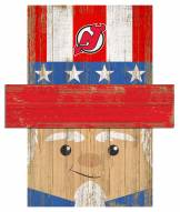 "New Jersey Devils 6"" x 5"" Patriotic Head"