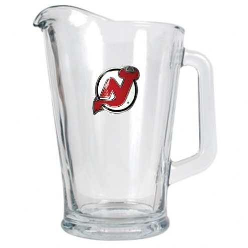 New Jersey Devils 60 Oz. Glass Pitcher - Primary Logo