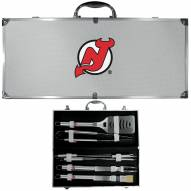 New Jersey Devils 8 Piece Stainless Steel BBQ Set w/Metal Case