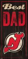 New Jersey Devils Best Dad Sign
