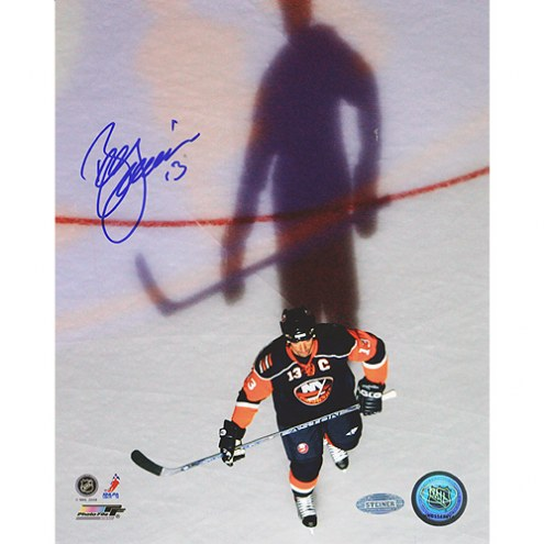 """New Jersey Devils Bill Guerin Overhead with Shadow Signed 16"""" x 20"""" Photo"""