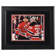 New Jersey Devils Bryce Salvador Signed and Framed 8 x 10 Photo with Martin Brodeur