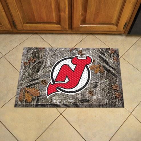 New Jersey Devils Camo Scraper Door Mat