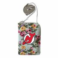 New Jersey Devils Canvas Floral Smart Purse