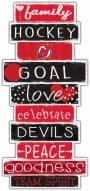 New Jersey Devils Celebrations Stack Sign