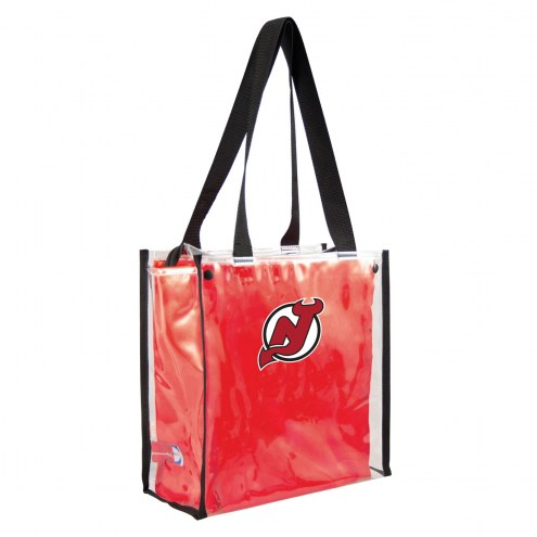 New Jersey Devils Convertible Clear Tote
