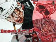 New Jersey Devils Dainius Zubrus Signed 8 x 10 Photo Close Up View