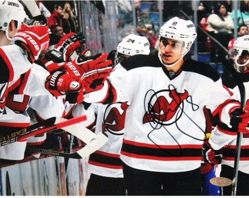 New Jersey Devils Dainius Zubrus Signed 8 x 10 Photo