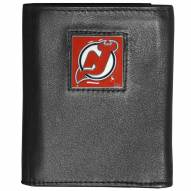 New Jersey Devils Deluxe Leather Tri-fold Wallet