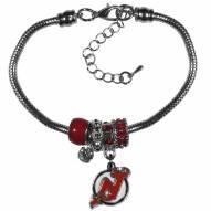 New Jersey Devils Euro Bead Bracelet