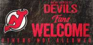 New Jersey Devils Fans Welcome Sign