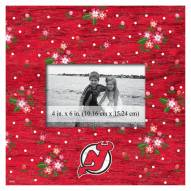 """New Jersey Devils Floral 10"""" x 10"""" Picture Frame"""