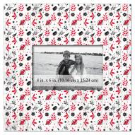 """New Jersey Devils Floral Pattern 10"""" x 10"""" Picture Frame"""