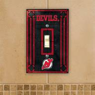 New Jersey Devils Glass Single Light Switch Plate Cover