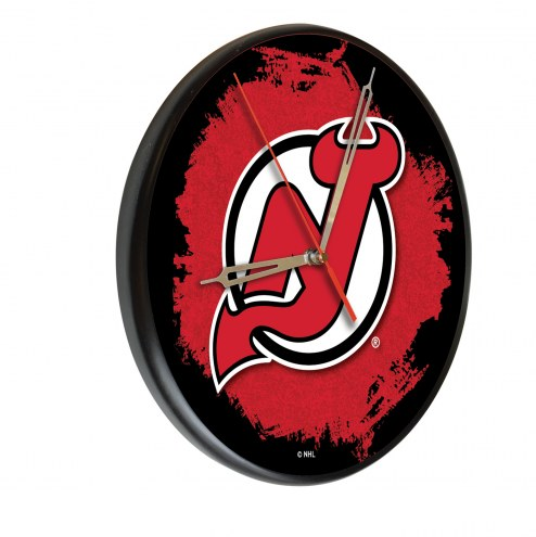 New Jersey Devils Digitally Printed Wood Clock