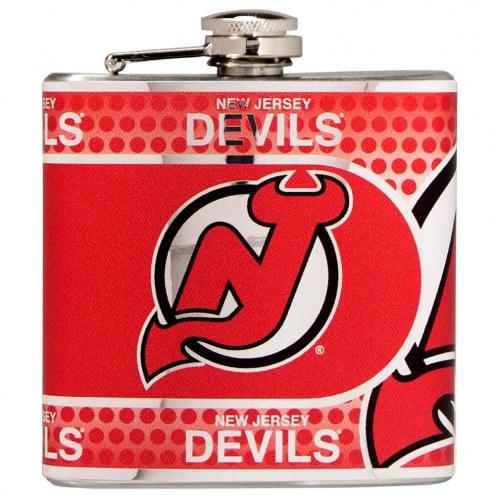 New Jersey Devils Hi-Def Stainless Steel Flask