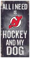 New Jersey Devils Hockey & My Dog Sign