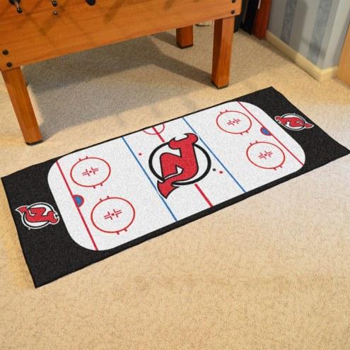 New Jersey Devils Hockey Rink Runner Mat