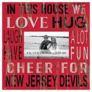 """New Jersey Devils In This House 10"""" x 10"""" Picture Frame"""