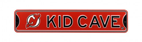New Jersey Devils Kid Cave Street Sign