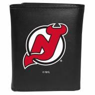 New Jersey Devils Large Logo Leather Tri-fold Wallet