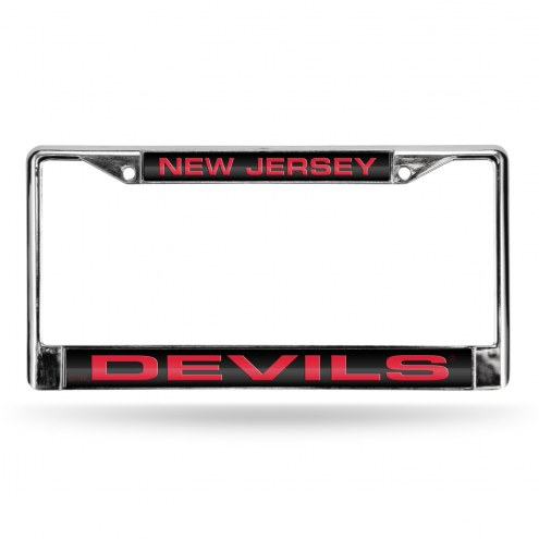 New Jersey Devils Laser Chrome License Plate Frame