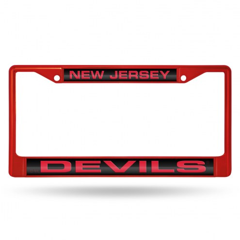 New Jersey Devils Laser Colored Chrome License Plate Frame