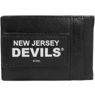 New Jersey Devils Logo Leather Cash and Cardholder