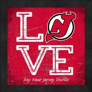 New Jersey Devils Love My Team Color Wall Decor