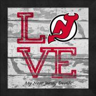 New Jersey Devils Love My Team Square Wall Decor