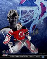 """New Jersey Devils Martin Brodeur All Time """"Wins"""" Leader Collage Signed 16"""" x 20"""" Photo"""