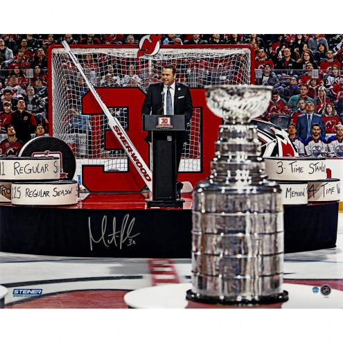 "New Jersey Devils Martin Brodeur Trophy Retirement Night Signed 16"" x 20"" Photo"