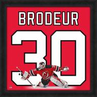 New Jersey Devils Martin Brodeur Uniframe Framed Jersey Photo