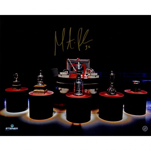 """New Jersey Devils Martin Brodeur Retirement Night With Cups Signed 16"""" x 20"""" Photo"""