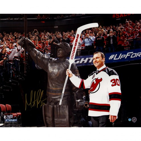 "New Jersey Devils Martin Brodeur Retirement Night With Statue Signed 16"" x 20"" Photo"