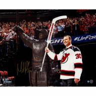 """New Jersey Devils Martin Brodeur Retirement Night With Statue Signed 16"""" x 20"""" Photo"""